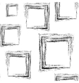 Pattern of black grunge squares vector image