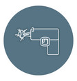 weapon gun isolated icon vector image