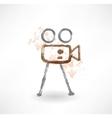movie grunge icon vector image vector image