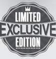 Exclusive limited edition retro label vector image vector image