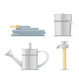 Gardening Water Equipment Flat vector image