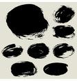 grunge circle bg blank vector image