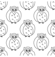 Outline owls retro seamless pattern vector image