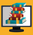 eLearning and online books vector image