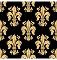 Golden and black seamless fleur-de-lis pattern vector image