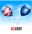 UK and EU on balloons Brexit concept vector image