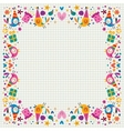 Birthday decorative border vector image