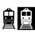 black and white isolated train vector image