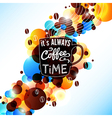 Bright coffee background with flare effect vector image
