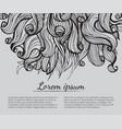 hair doodle elements sketched waves on background vector image