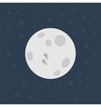 Moon Flat design vector image