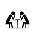 people chess symbol black vector image