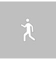 walk computer symbol vector image