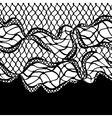 Seamless lace border with abstract waves Vintage vector image