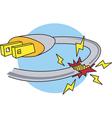 Electric Power Hazard vector image vector image