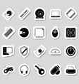 Computer icons stikers vector image vector image