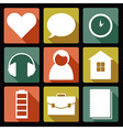User flat icons 1 vector image