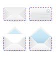 Set of white envelopes vector image
