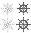 Set of Vintage marine steering wheel vector image