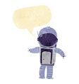 cartoon astronaut with speech bubble vector image
