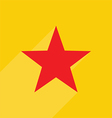 Red star icon vector image