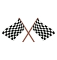Checkered racing flags cartoon vector image