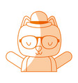animal cat cartoon vector image