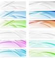 Big modern abstract swoosh wave web headers vector image