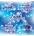 Christmas handwriting typography vector image