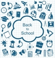 Collection of Education Flat Simple Icons vector image
