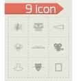 Culture icon set vector image