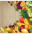 Fruits Colored Background vector image