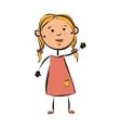 girl kid child vector image