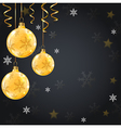 Golden shining Christmas decorations vector image