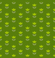 grass green color holland tulip repeatable motif vector image