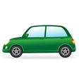 isolated green retro car on white background vector image