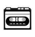 old cassette recorder vector image