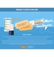 Order Tickets Online vector image