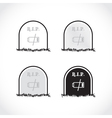 RIP coffin set vector image