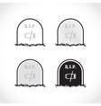 RIP coffin set vector image