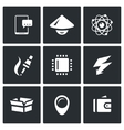 Set of Electronic Industry Icons vector image