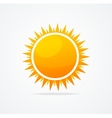 Set of glossy sun vector image