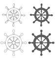 Set of Vintage marine steering wheel vector image