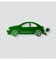 Eco car concept Go green vector image