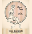 pin-up card template vector image