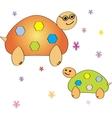 Cartoon turtle Coloring book vector image vector image