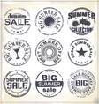 Summer sale grunge rubber stamp vector image vector image