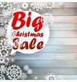 Christmas snowflakes with big sale vector image