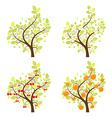 Stylized Fruit Trees vector image