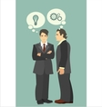 business concept discussion of ideas 380 vector image